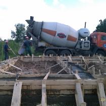 Заливка фундамента, бетонирование